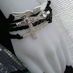 Jewelry - Faith + Loyalty + Freedom Charm Bracelet Black
